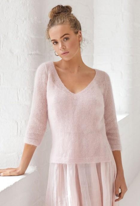 Вяжем мохеровый пуловер для создания нежного образа 0