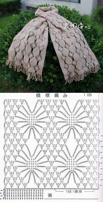 Узоры для осенних шарфиков 2