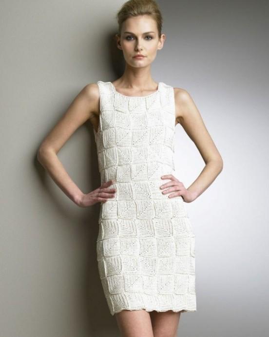 c986e1ad917 Интересное платье безотрывным вязанием из категории Интересные идеи ...