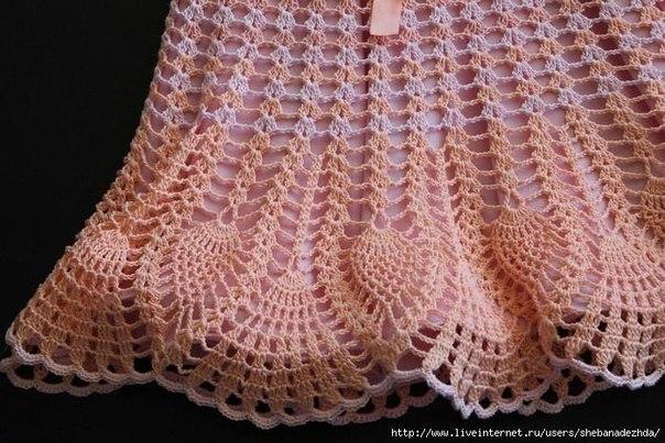 Персиковое платье для малышки 2