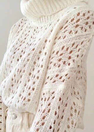 Ажурный свитер оверсайз 1