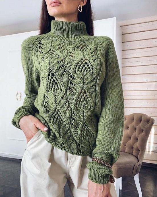Узор для свитера спицами 0