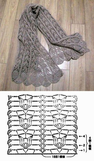 Узоры для осенних шарфиков 3