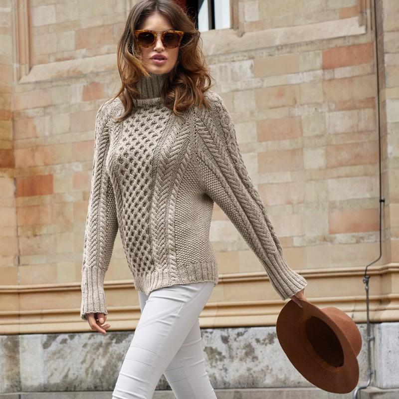 бесшовный свитер спицами из категории интересные идеи вязаные идеи