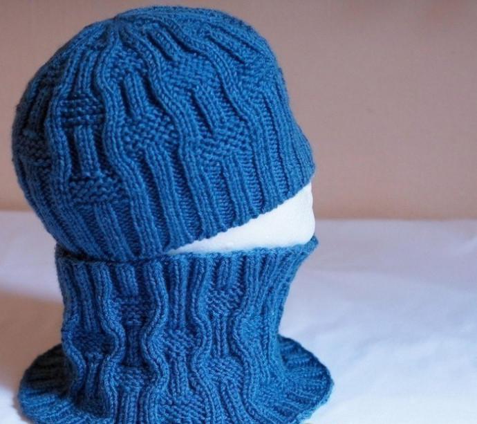 Стильные шапочка и снуд спицами 0