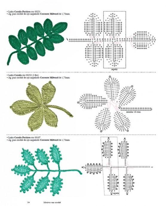 вязаные цветы схемы из категории интересные идеи вязаные идеи