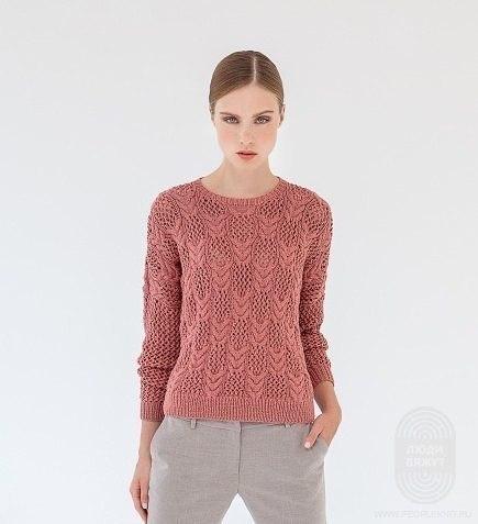 Вяжем нежный пуловер 0