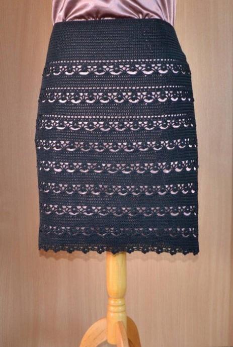 Шикарная юбка крючком 1
