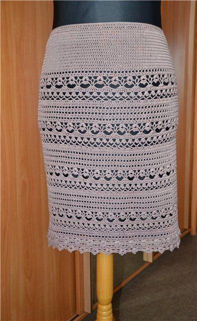 Шикарная юбка крючком 0