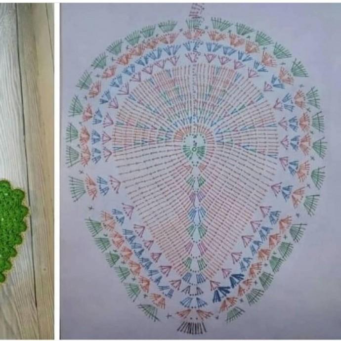 Схема необычной салфетки крючком 2