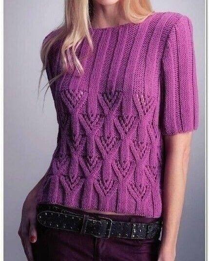 Узор для пуловера, вяжем спицами 0