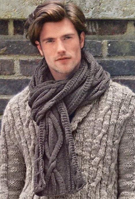 Интересный мужской шарф 0