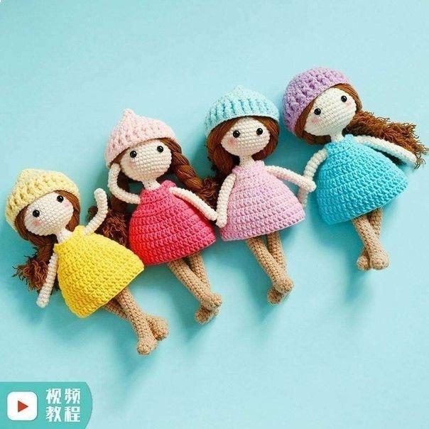 Вяжем маленькую куклу-игрушку 0