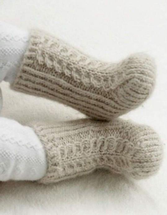 Вяжем носки спицами для самых маленьких 0