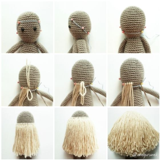 волосы для вязаной куклы мк из категории интересные идеи вязаные