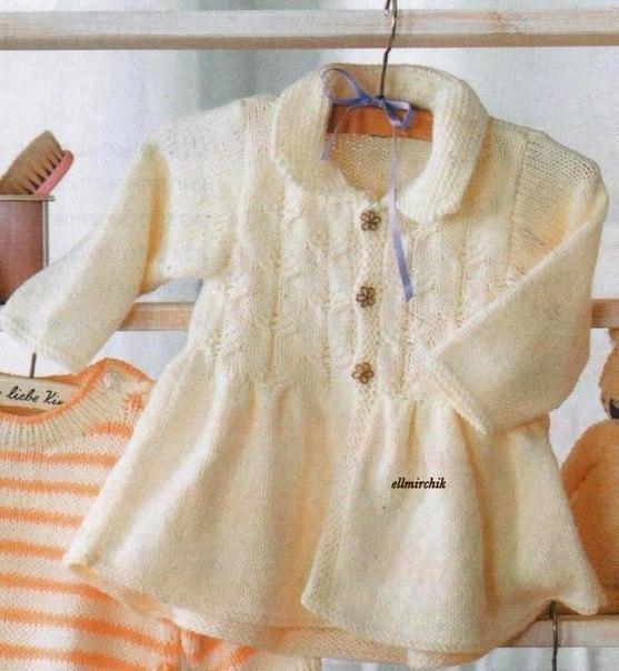 милое вязаное пальто для девочки из категории интересные идеи