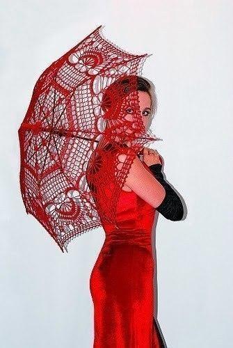 Красивый ажурный зонт 0