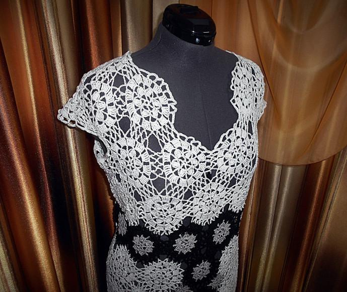 27624a53b16 Платье из мотивов.(Работа по мотивам авторского платья Олеси Петровой) 3