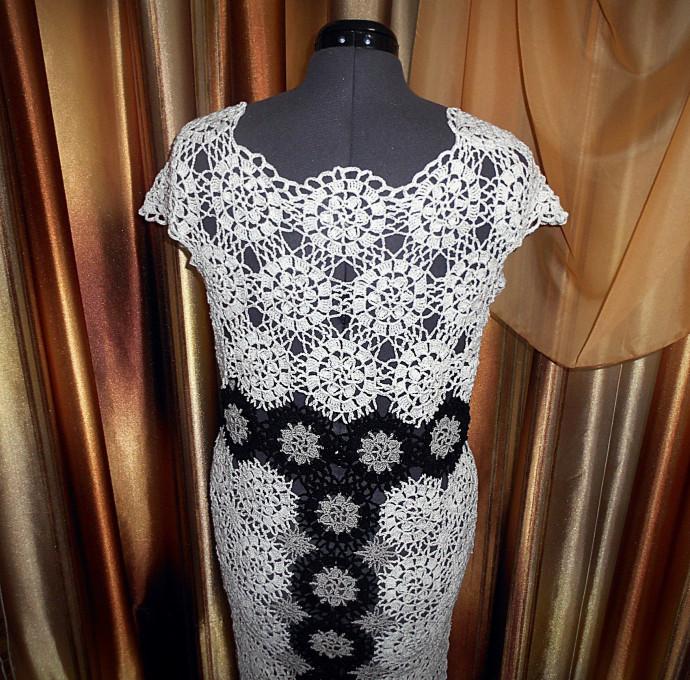 9e079302c02 Платье из мотивов.(Работа по мотивам авторского платья Олеси Петровой) 1