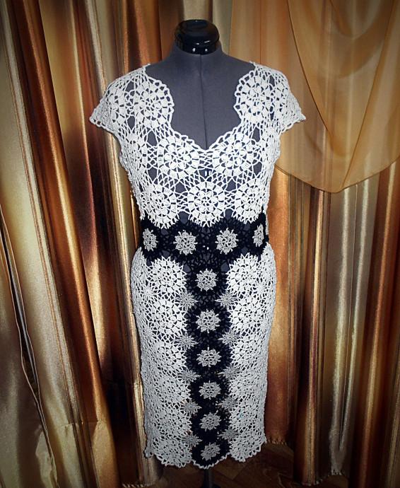 d90e7138a71 Платье из мотивов.(Работа по мотивам авторского платья Олеси Петровой) 0