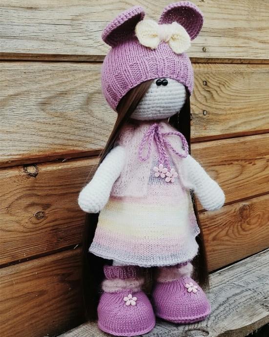 кукла тильда из категории мои работы вязаные идеи идеи для вязания