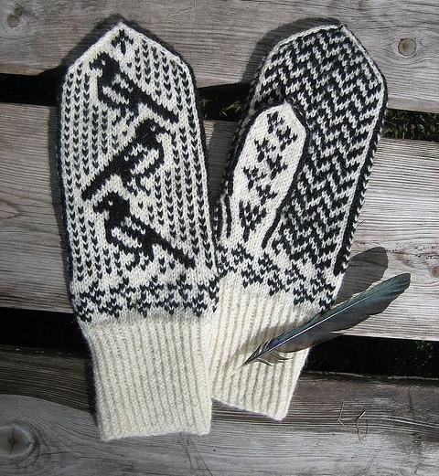 очень красивый орнамент для варежек вязание спицами из категории