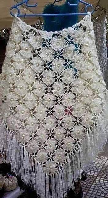 Цветочная шаль 0