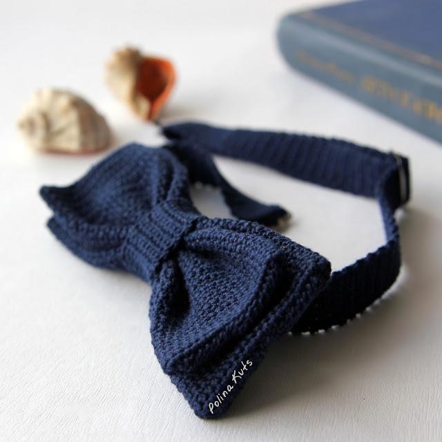 Вяжем стильный аксессуар: галстук-бабочка 2