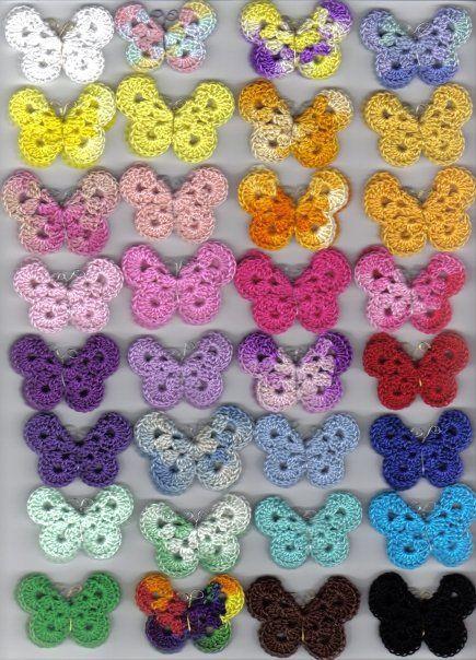 Бабочки крючком — схема вязания