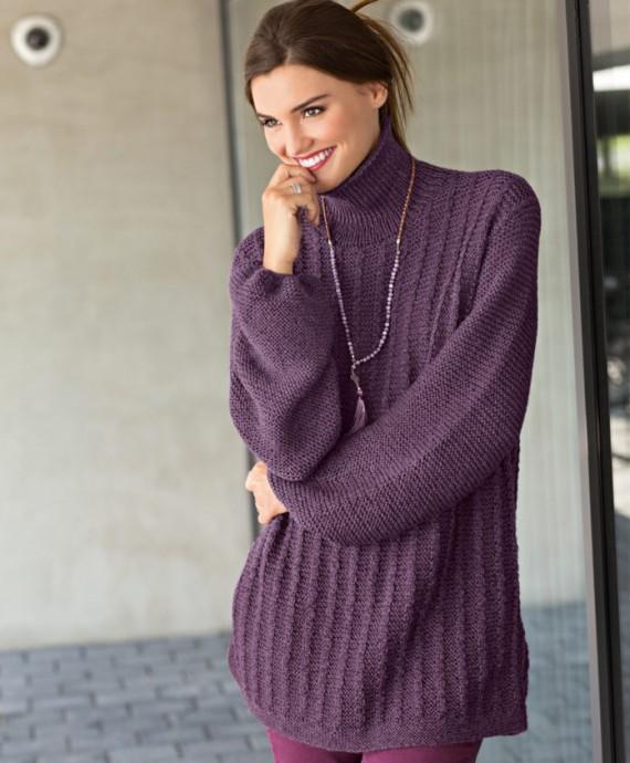 Вяжем красивый свитер оверсайз 0