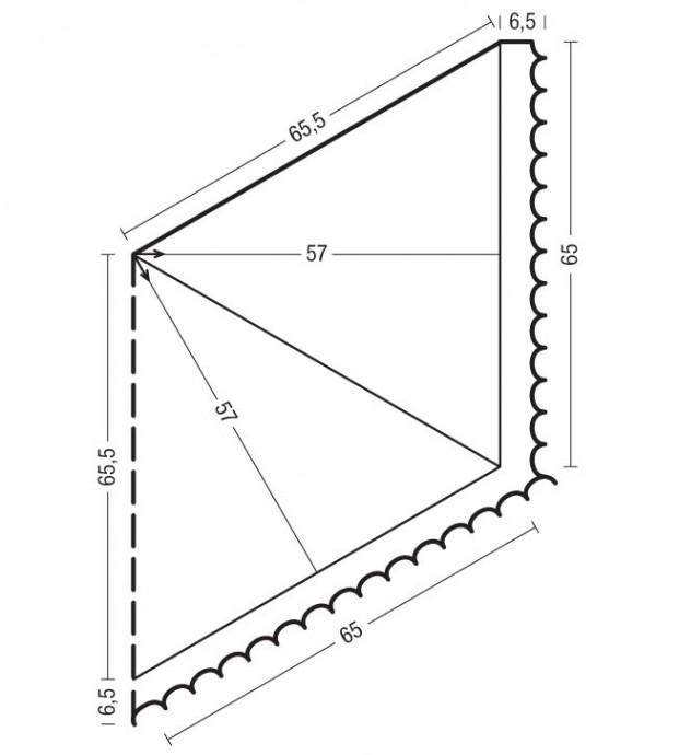 Вяжем ажурную шаль 2