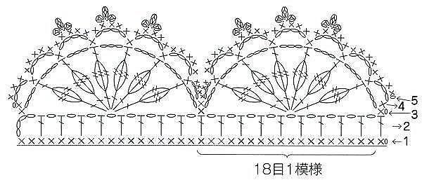 Схемы для вязаной каймы 4