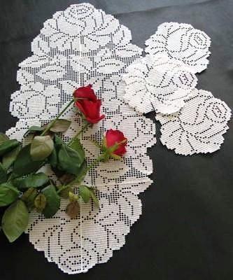 Филейная роза 3