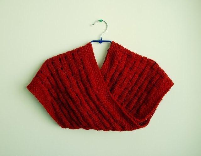 узор плетенка из трикотажной пряжи