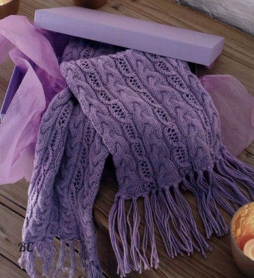 мужской шарф из трикотажной пряжи